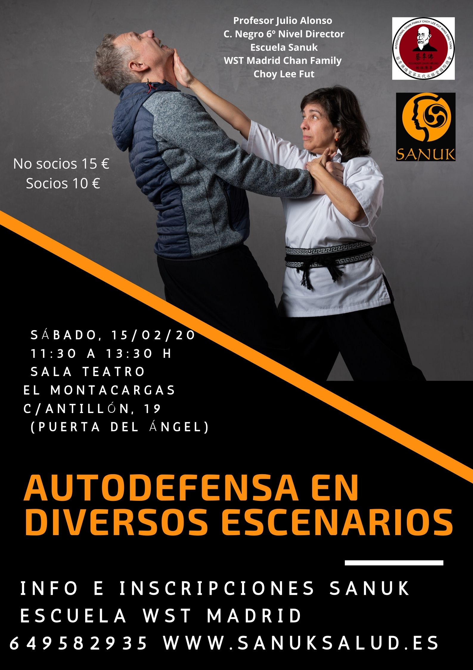 Autodefensa Kung Fu Sanuk Salud taller